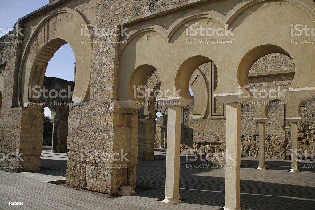 Edificio Basilical superior (Medina Azahara) stock photo