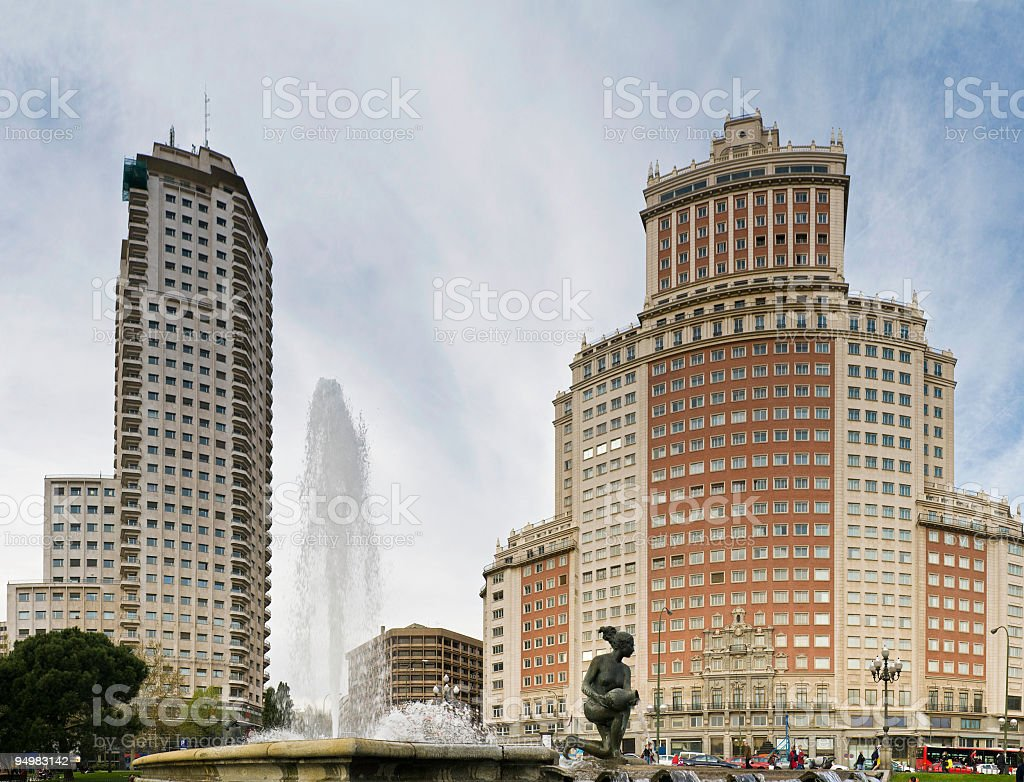 Edificio España Madrid royalty-free stock photo
