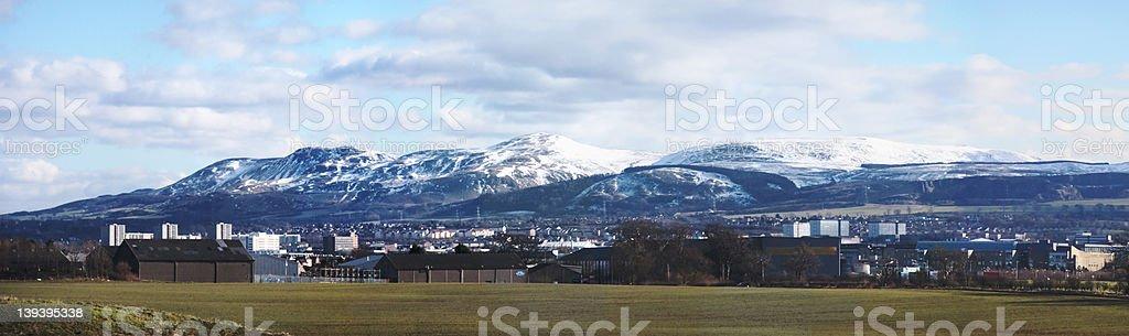 Edinburgh et Pentlands photo libre de droits