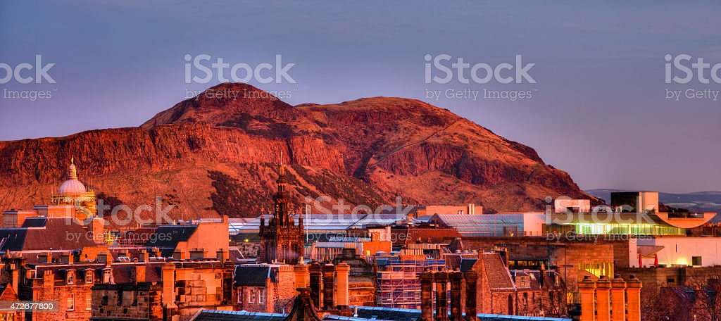 Edinburgh & Arthur´s Seat royalty-free stock photo