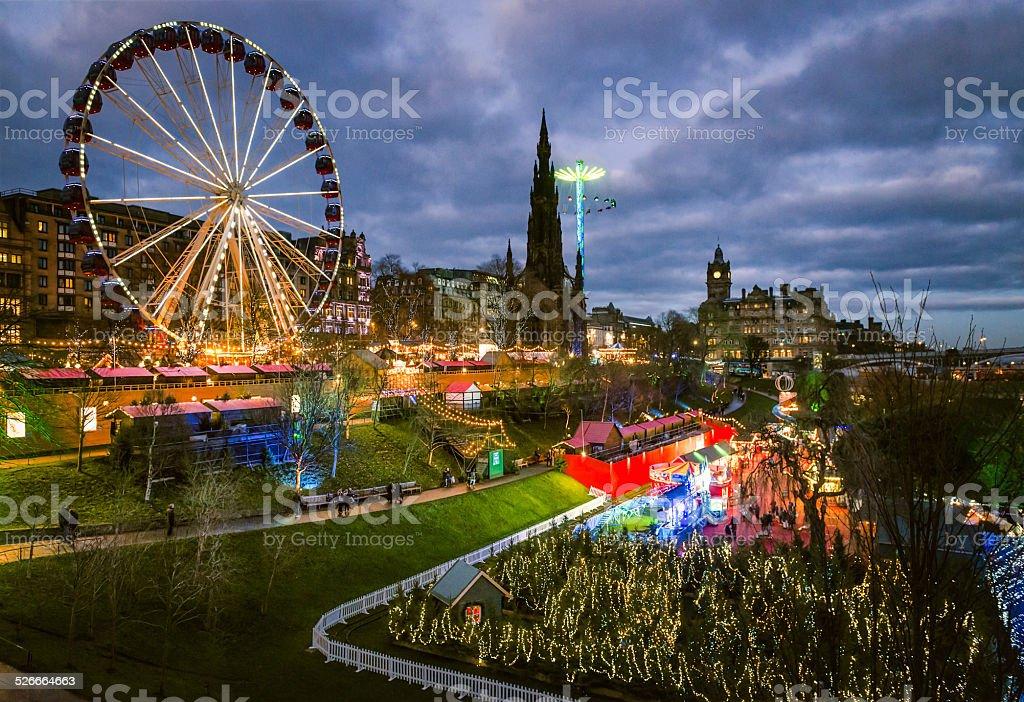 Edinburgh at Christmas stock photo