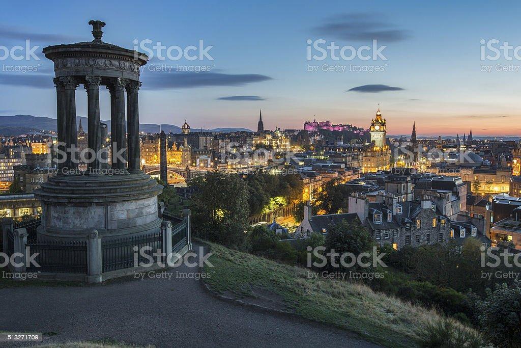 Edinburgh at dusk stock photo