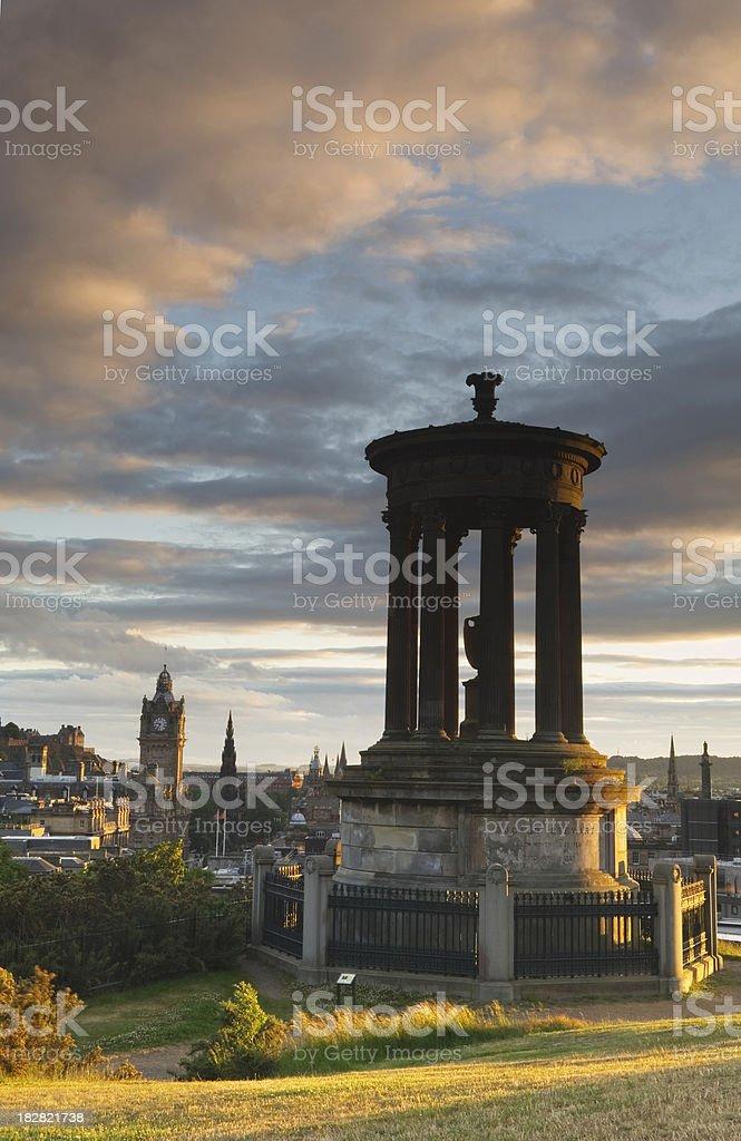 Edinburgh at sunset stock photo