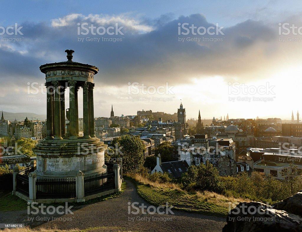 Edinburgh at sunset, Scotland UK royalty-free stock photo