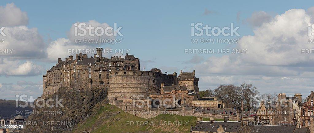 Edinburgh Castle and esplanade, iconic landmark stock photo