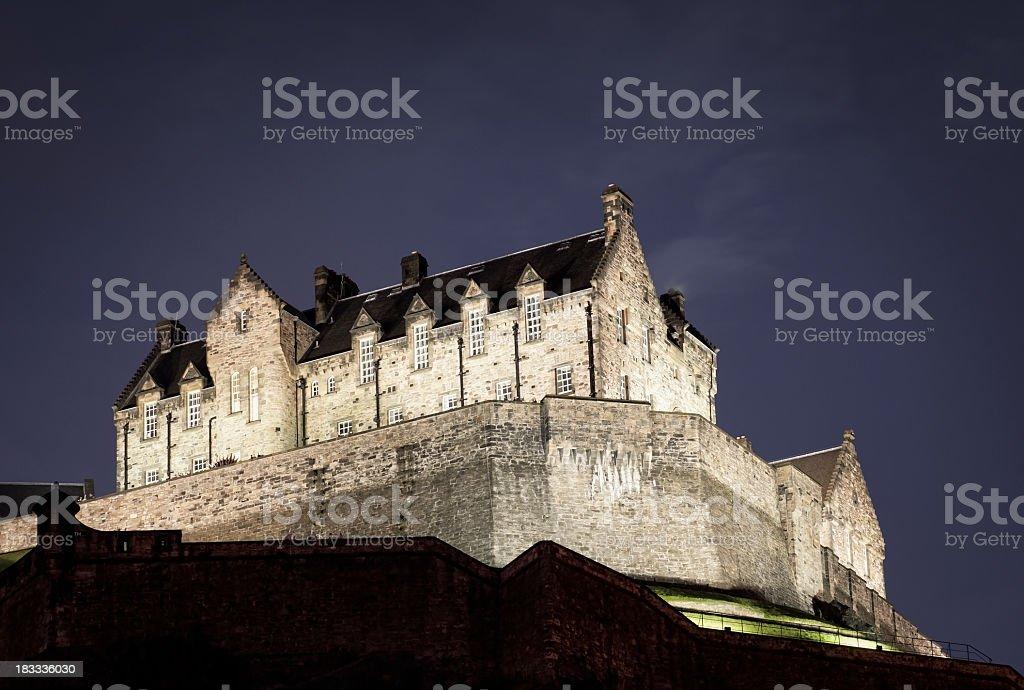 Edinburgh Castle at Night royalty-free stock photo