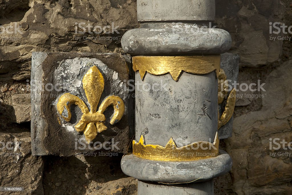 Edinburgh Castle Drainpipe Detail royalty-free stock photo