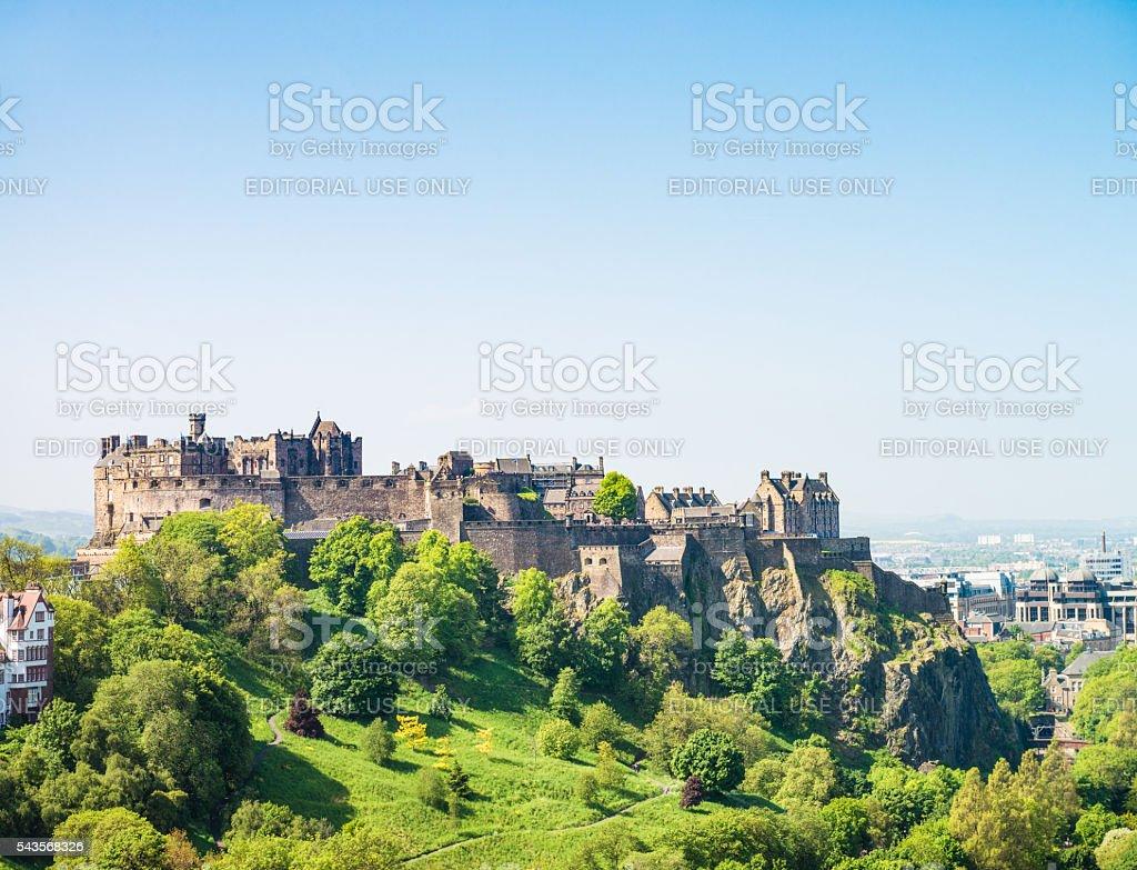Edinburgh Castle on the  horizon stock photo