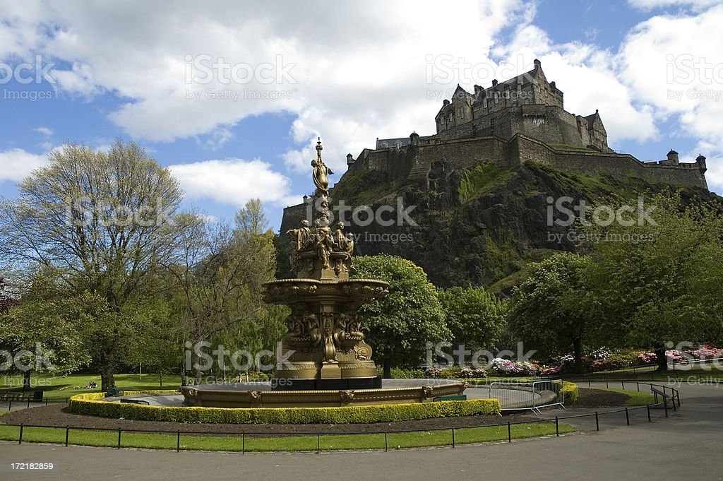 Edinburgh Castle royalty-free stock photo