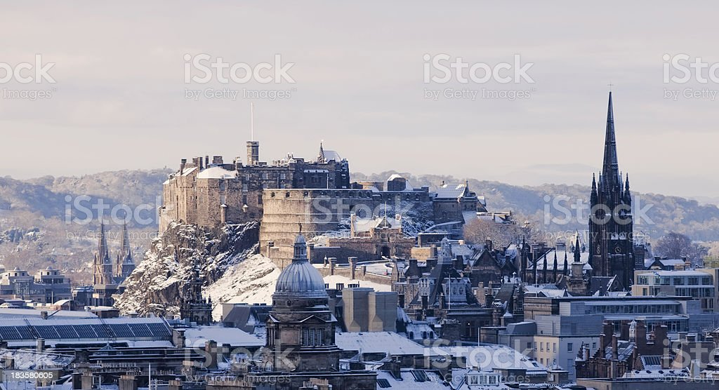 Edinburgh castle stock photo