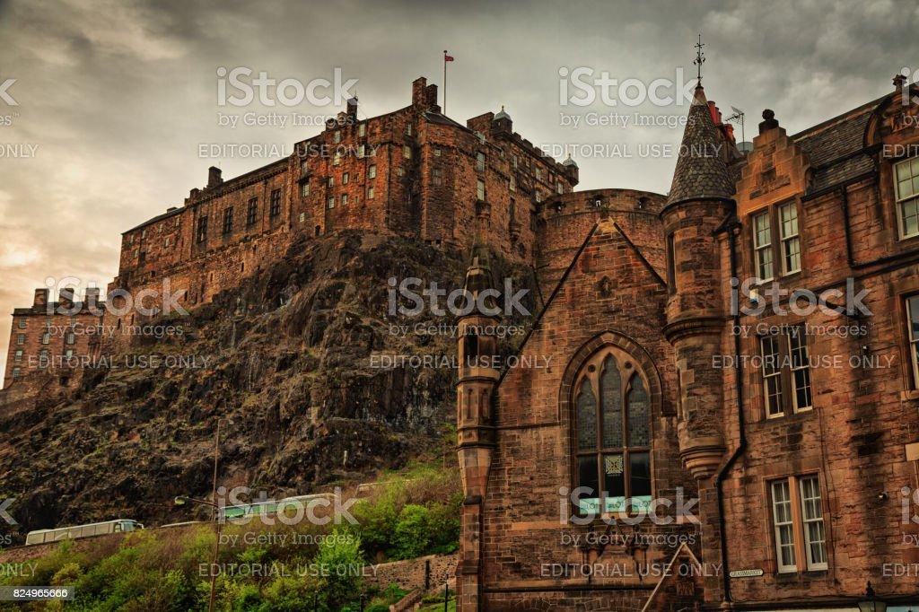 Edinburgh Castle stock photo