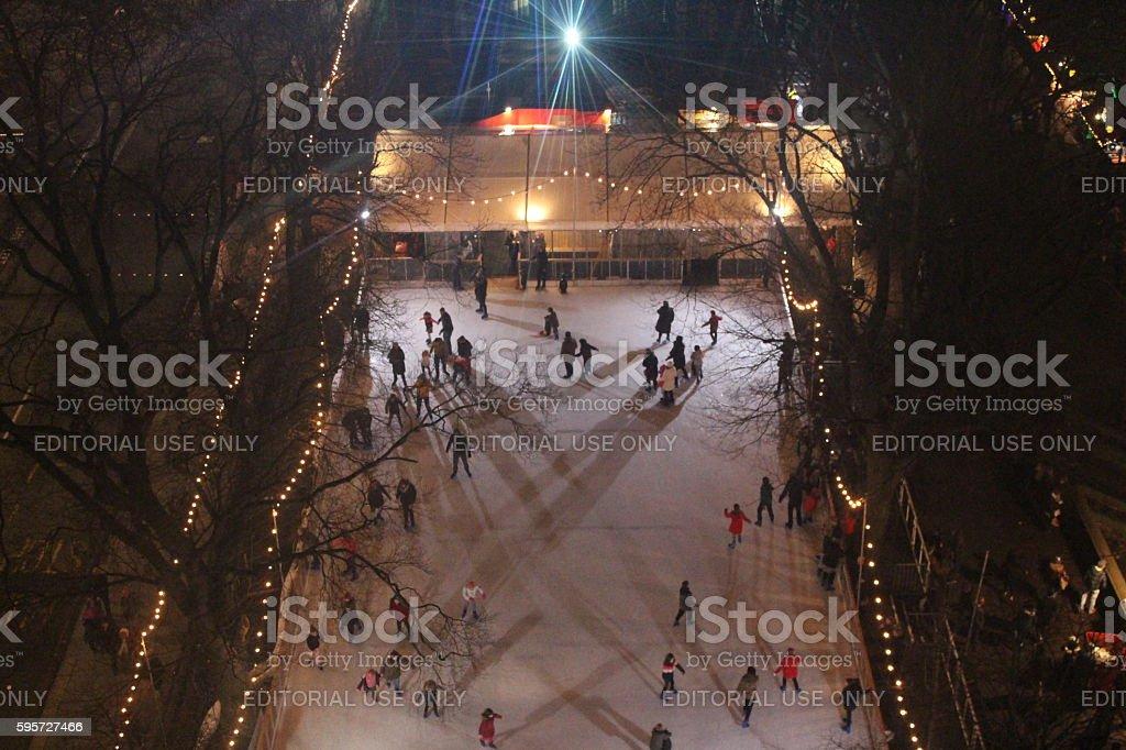 Edinburgh Christmas ice rink stock photo
