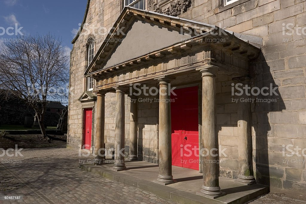 Edinburgh Church Portico stock photo