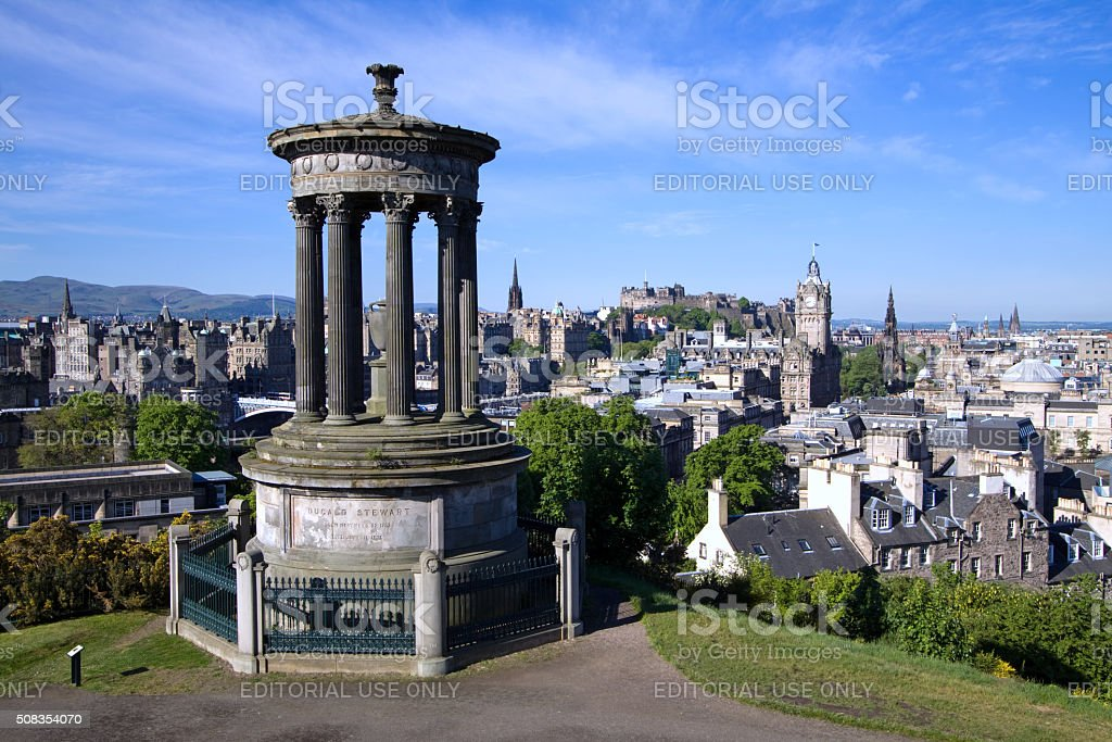 Edinburgh City From Calton Hill stock photo