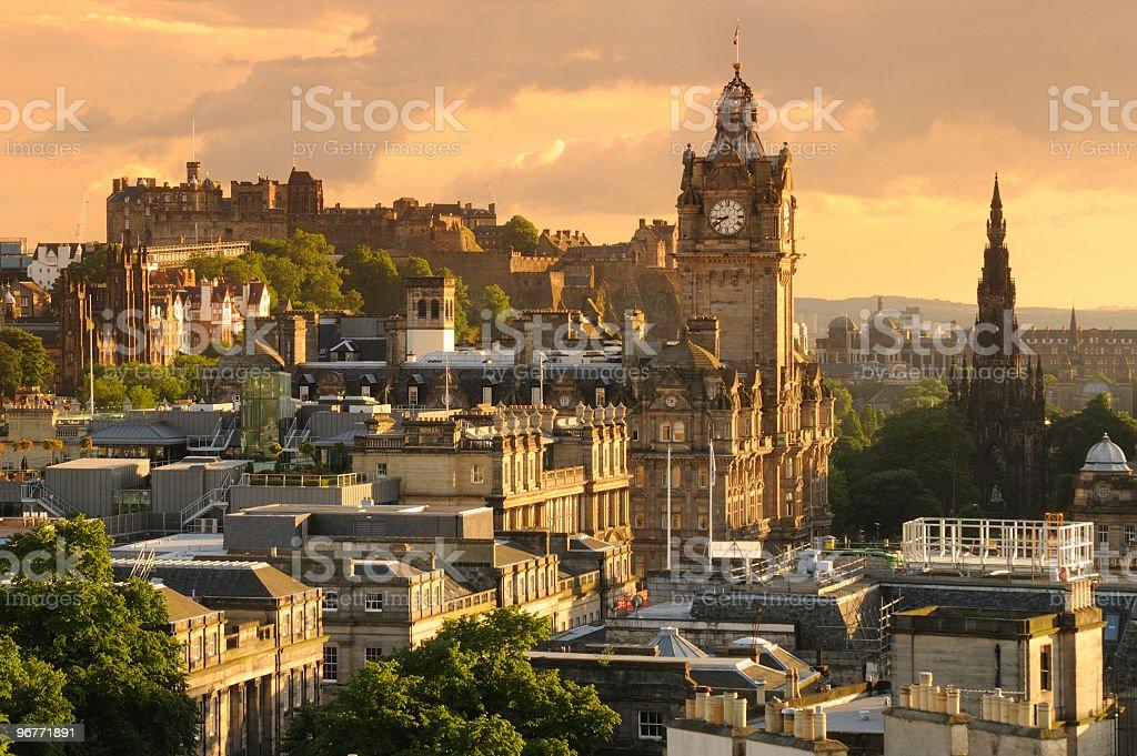 Edinburgh Cityscape stock photo