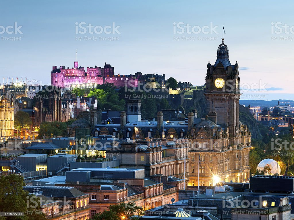 Edinburgh Cityscape, Scotland stock photo
