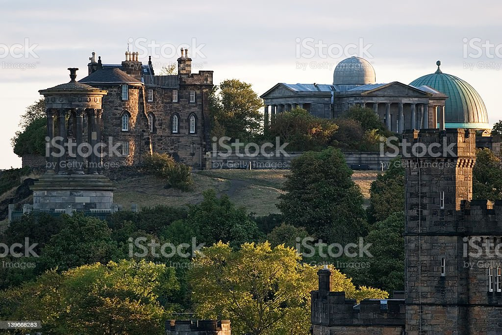 Edinburgh Dawn stock photo