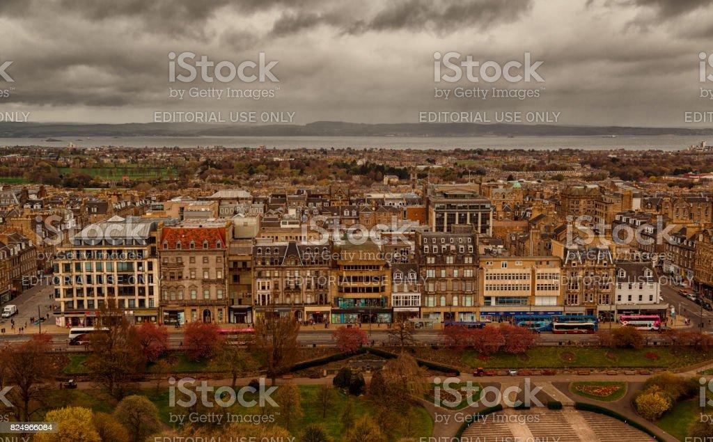 Edinburgh downtown and historic center stock photo