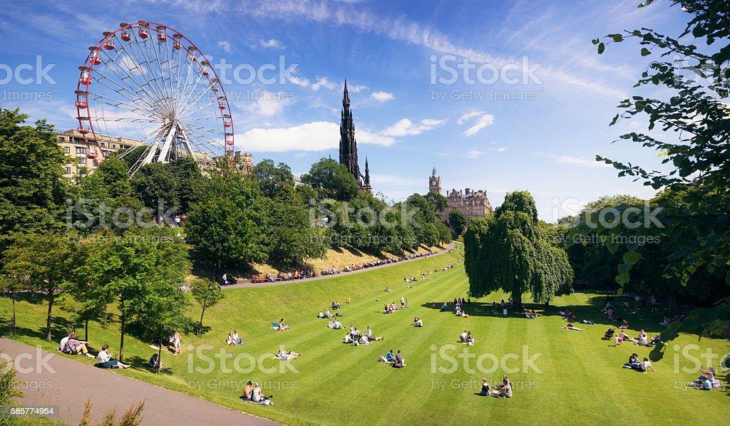 Edinburgh during warm summer weather stock photo