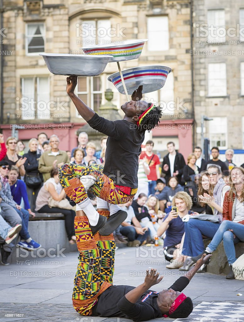 Edinburgh Festival Fringe Street Performance stock photo