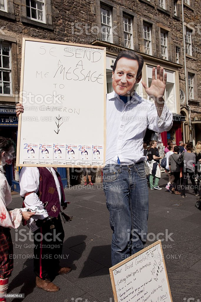 Edinburgh Fringe festival performers stock photo
