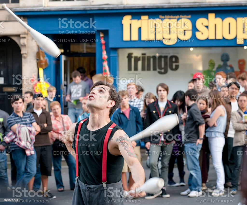 Edinburgh Fringe Festival Street Performer stock photo