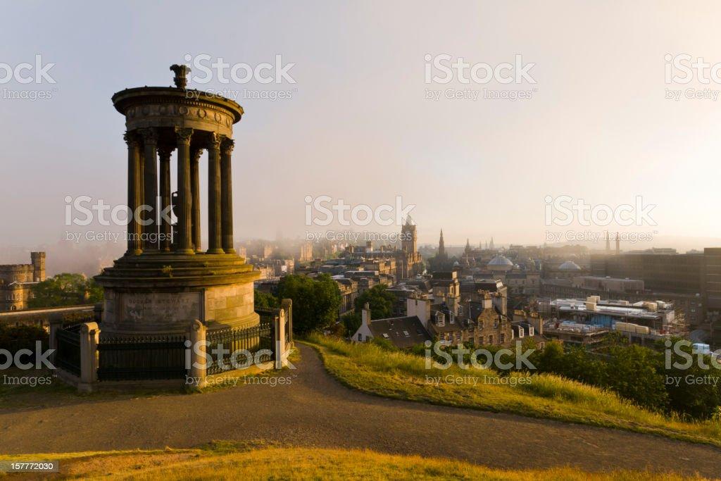 Edinburgh from Calton Hill. stock photo