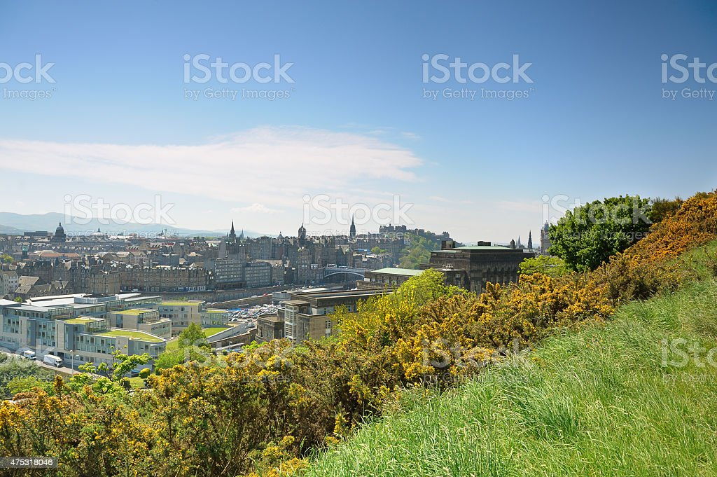 Edinburgh from Calton Hill stock photo