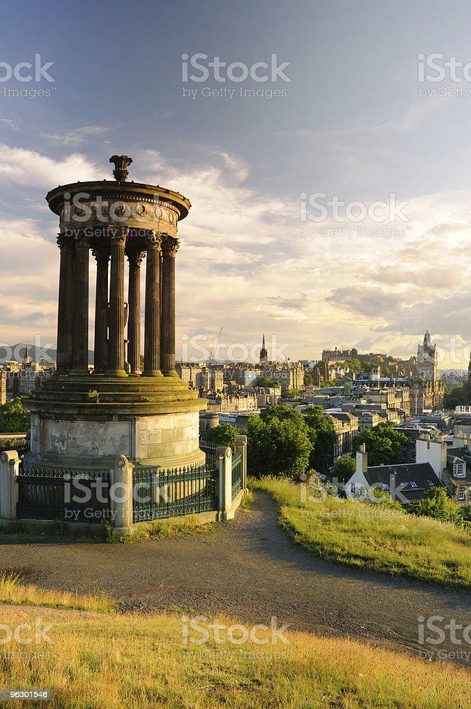 Edinburgh from Calton Hill stock photo