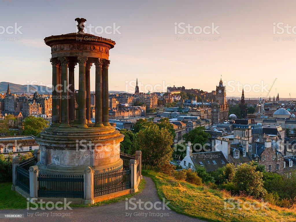 Edinburgh from Calton Hill, Scotland stock photo