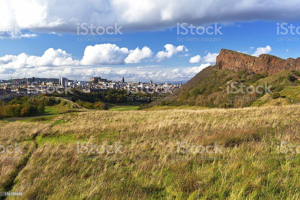 Edinburgh from Holyrood stock photo