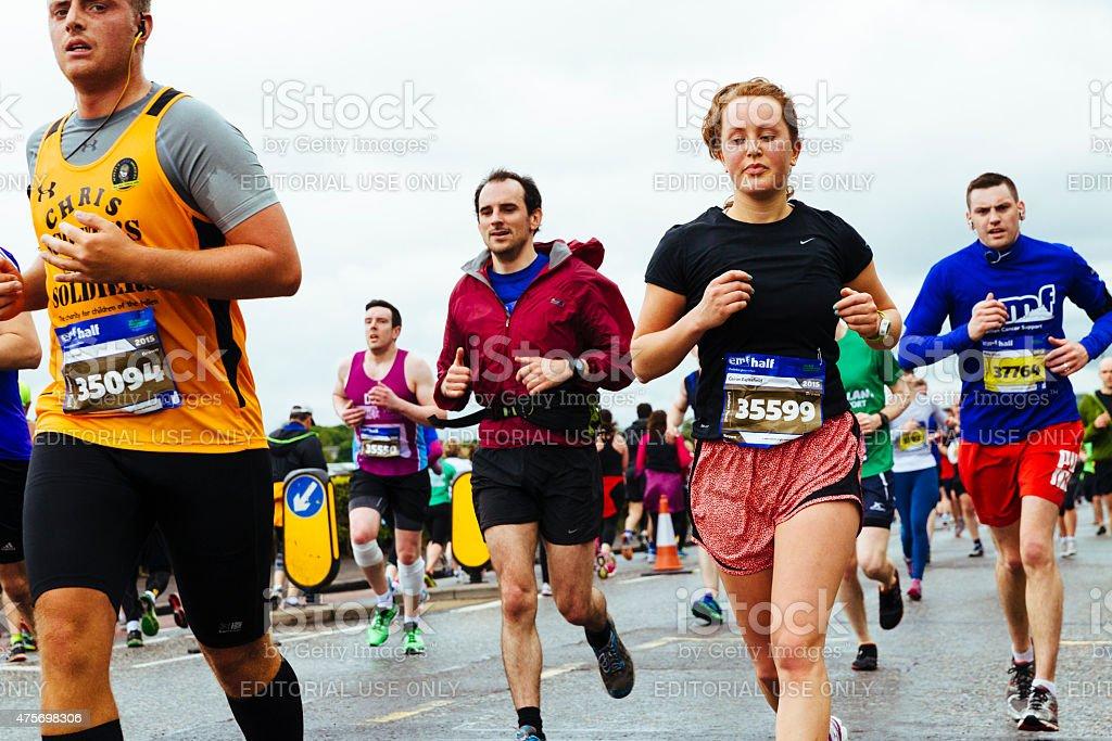 Edinburgh Half Marathon 2015 stock photo