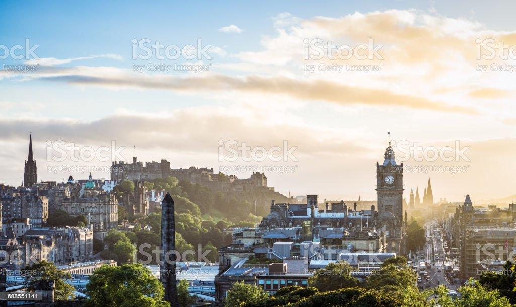 Edinburgh in hazy summer weather stock photo