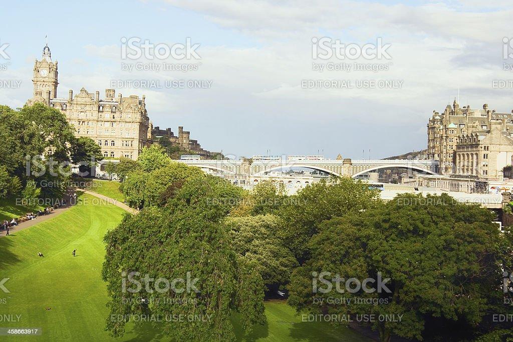 Edinburgh in summer stock photo