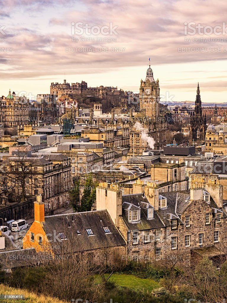Edinburgh Morning stock photo