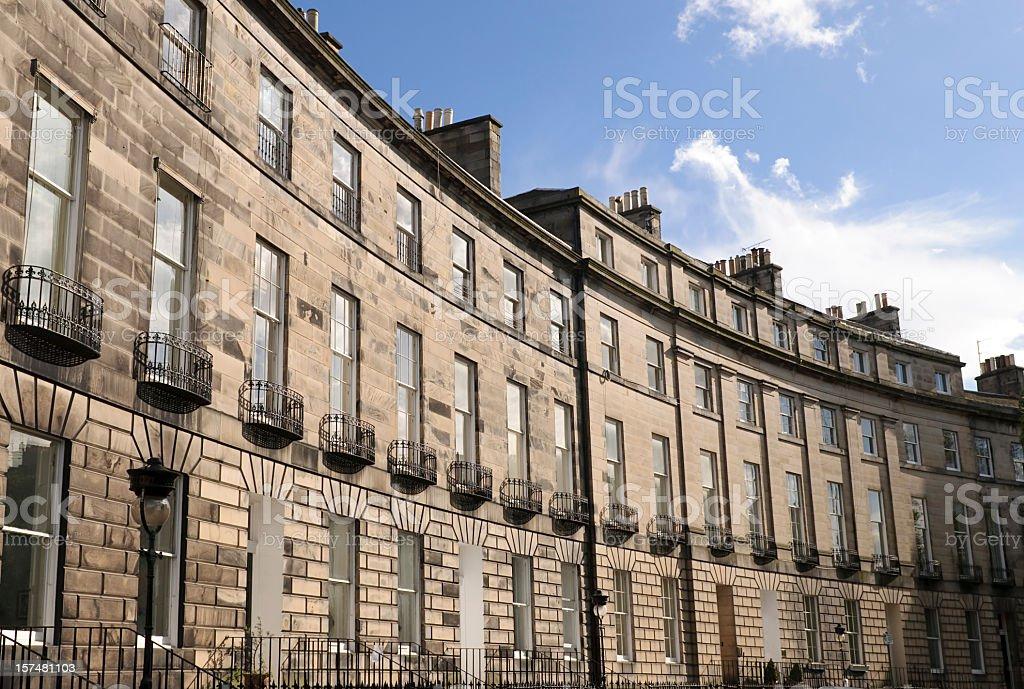 Edinburgh New Town Architecture stock photo