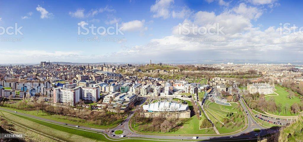 Edinburgh Panorama stock photo
