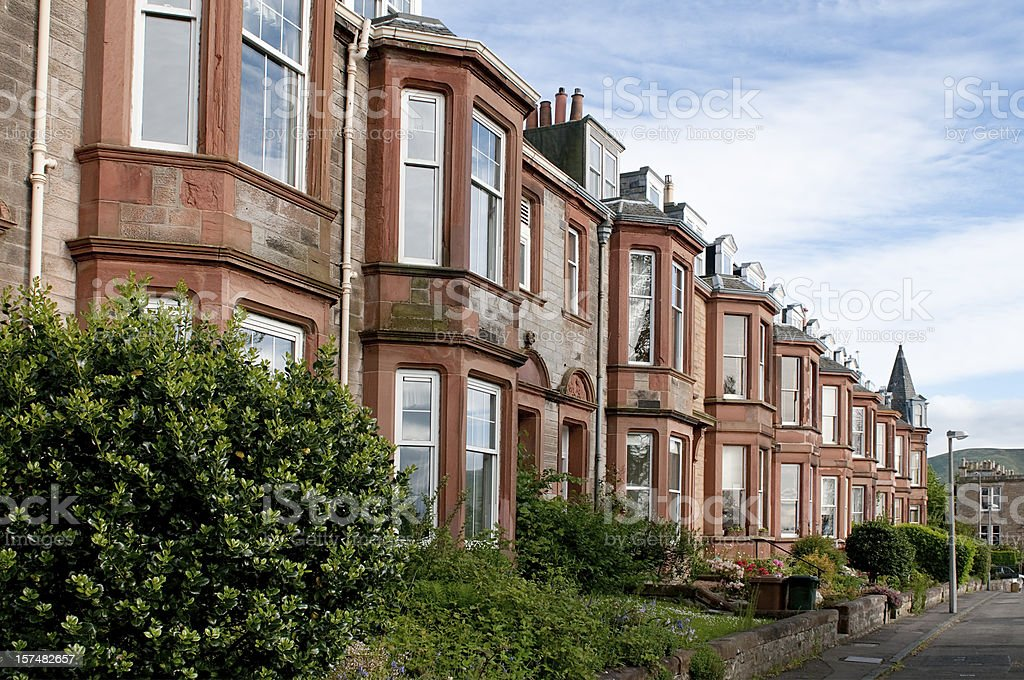 Edinburgh Residential Accommodation stock photo