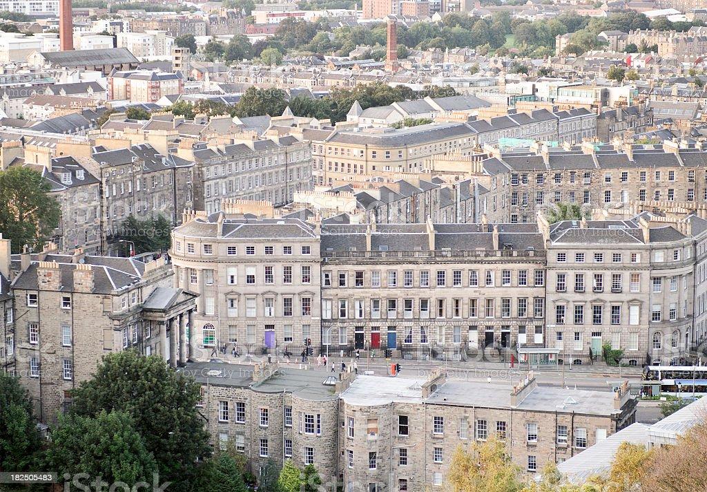 Edinburgh Residential Streets royalty-free stock photo