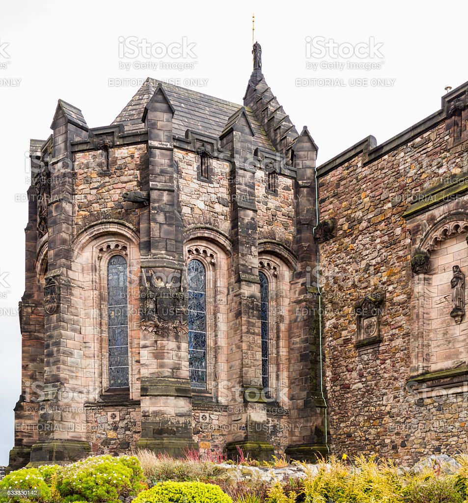 Edinburgh, Scotland. Inside the Castle stock photo