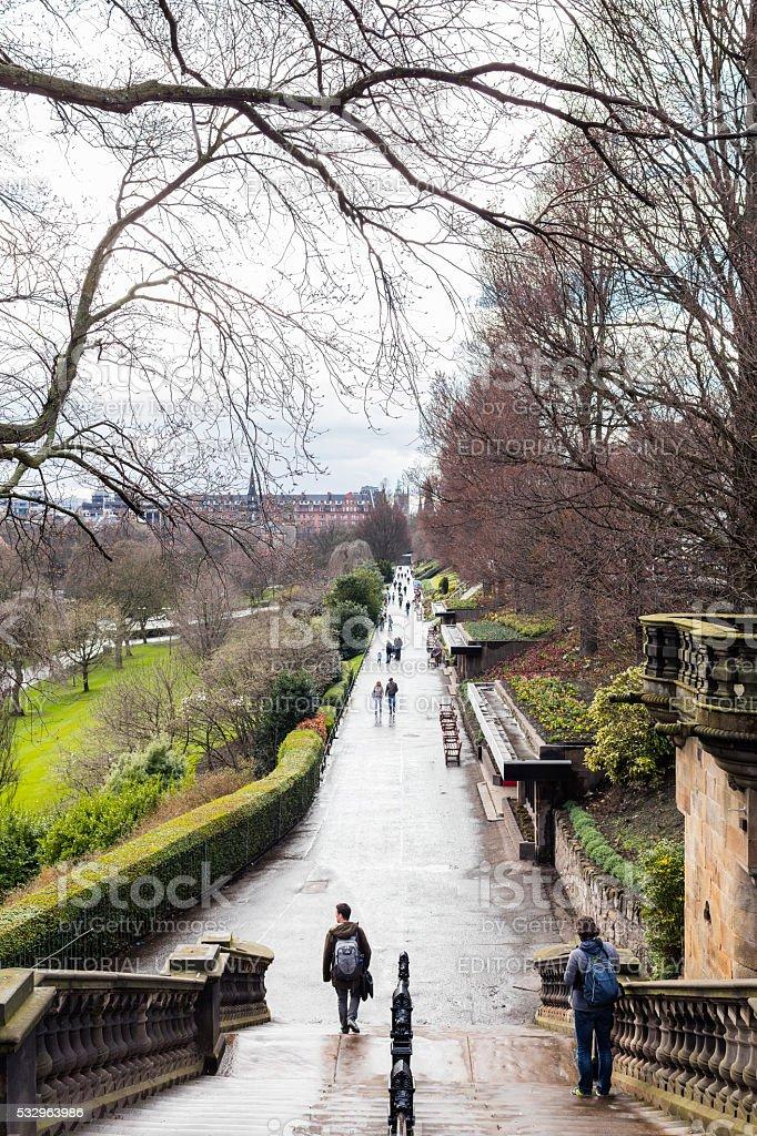 Edinburgh, Scotland. Princes Street Gardens stock photo