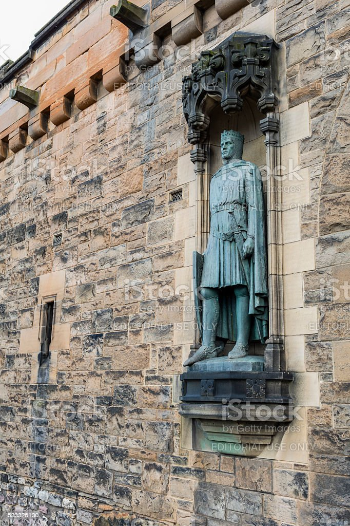 Edinburgh, Scotland. Statue of Robert the Bruce stock photo