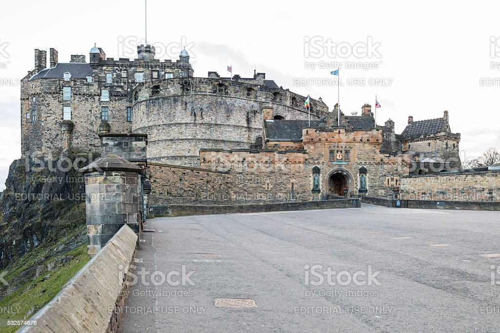 Edinburgh, Scotland. The Castle stock photo