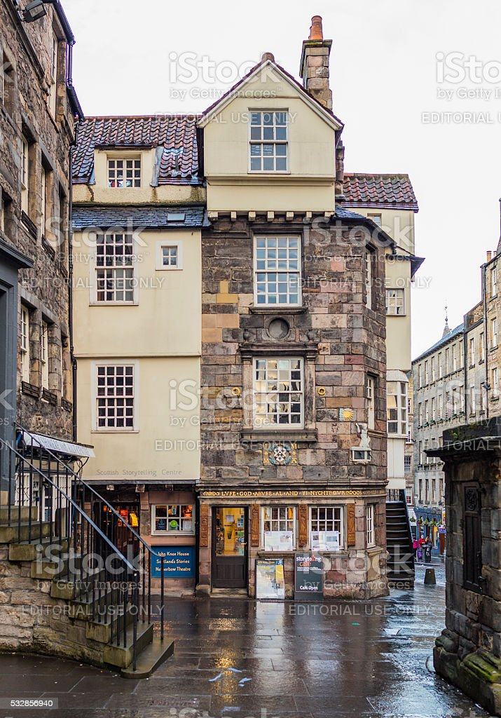 Edinburgh, Scotland. The John Knox house along the Royal Mile stock photo