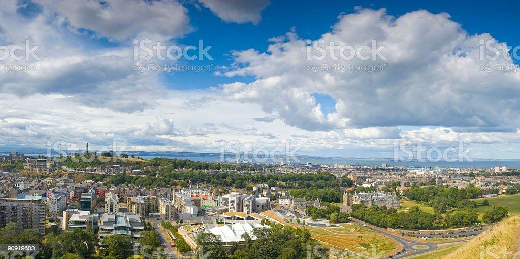 Edinburgh skyline, Scotland royalty-free stock photo