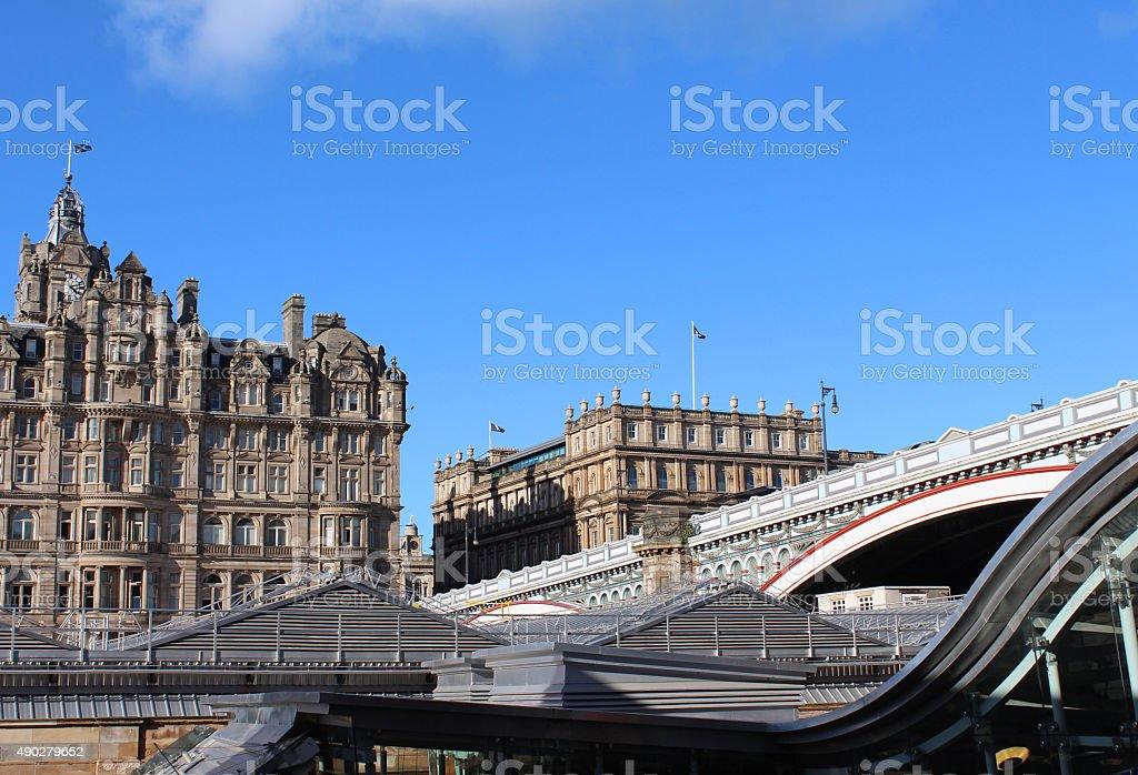 Edinburgh Station stock photo