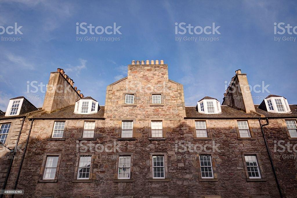 Edinburgh stonebuilt  building facade stock photo