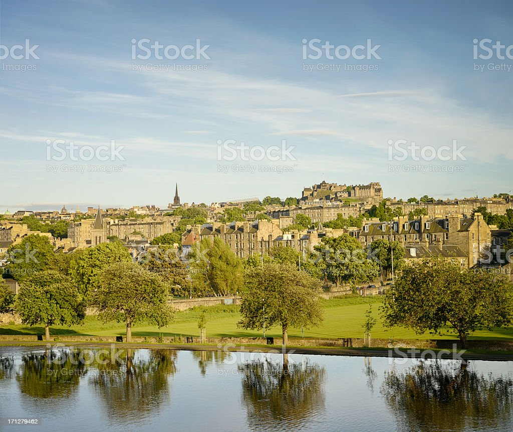 Edinburgh Summer Skyline stock photo