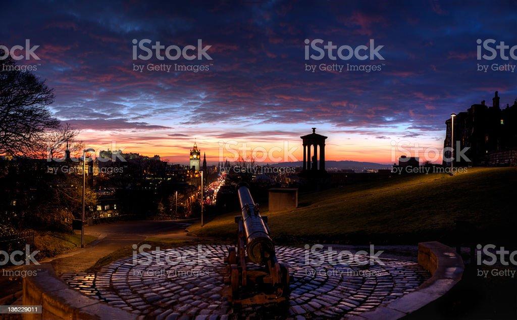 Edinburgh Sunset stock photo