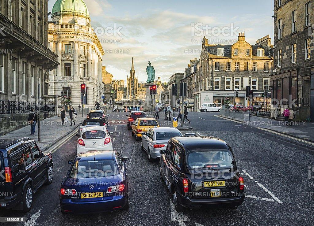Edinburgh Traffic stock photo